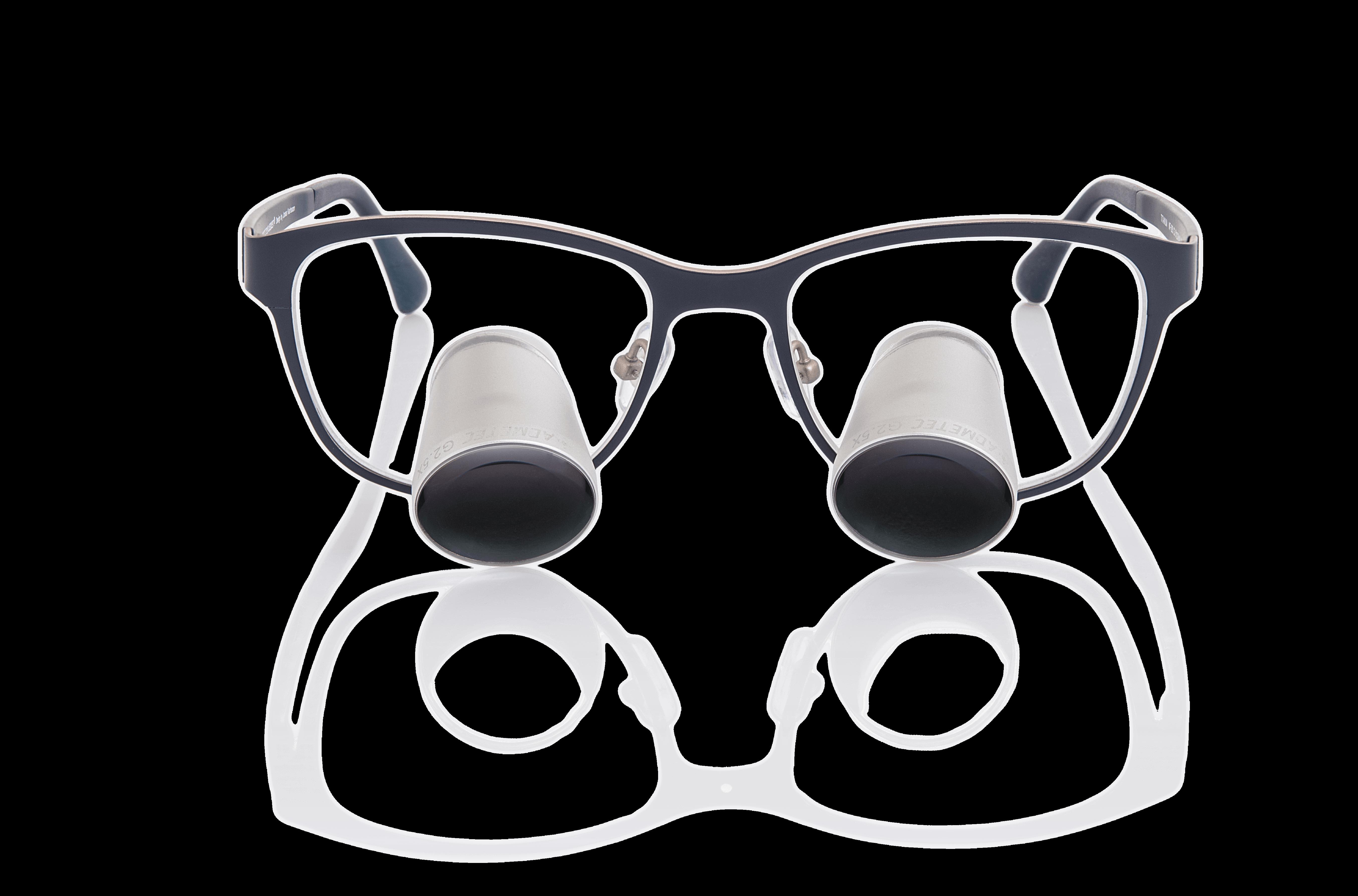משקפי הגדלה גליליים | 2.5